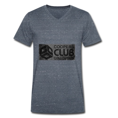 Coopers Club Collection distressed logo - Men's Organic V-Neck T-Shirt by Stanley & Stella