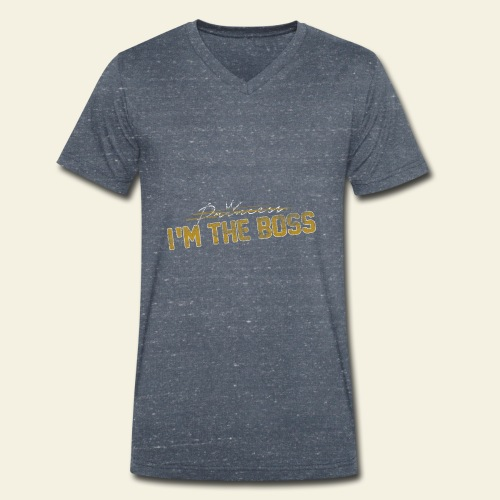 BAVAGLINO PRINCESS - T-shirt ecologica da uomo con scollo a V di Stanley & Stella