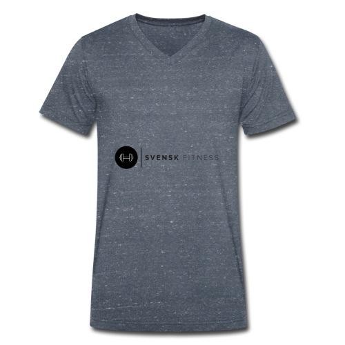Svart logo - Ekologisk T-shirt med V-ringning herr från Stanley & Stella