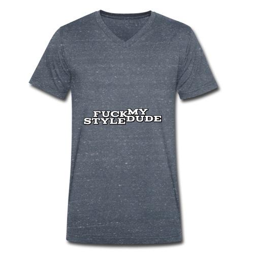 White T-Shirt - FMSD - Men's Organic V-Neck T-Shirt by Stanley & Stella