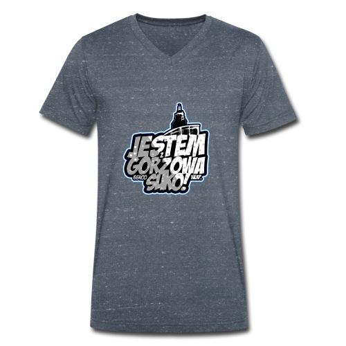 Jestem-Z-Gorzowa-Suko! - Ekologiczna koszulka męska z dekoltem w serek Stanley & Stella