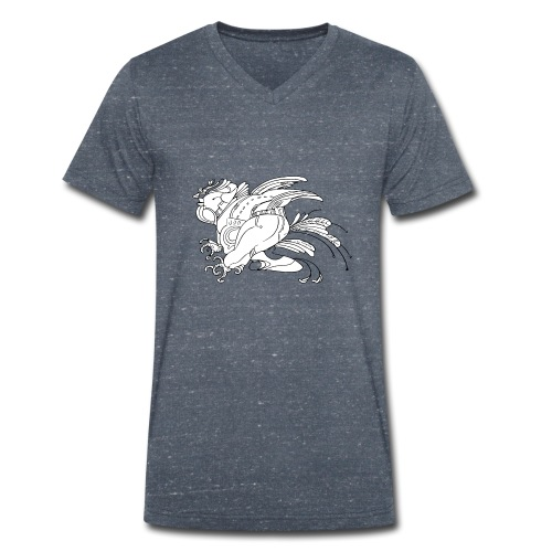 fat birdman - T-shirt ecologica da uomo con scollo a V di Stanley & Stella
