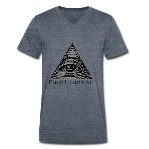 Fuck Illuminati - T-shirt ecologica da uomo con scollo a V di Stanley & Stella