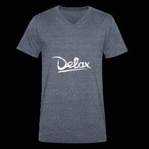Delax White Logo - Mannen bio T-shirt met V-hals van Stanley & Stella