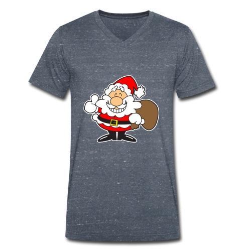 Santa_Cool01-png - Camiseta ecológica hombre con cuello de pico de Stanley & Stella