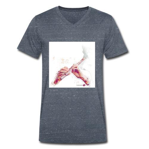 fluitnoten mok - Men's Organic V-Neck T-Shirt by Stanley & Stella