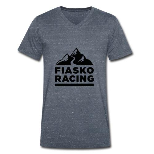 Fiasko Racing Logo Black - Männer Bio-T-Shirt mit V-Ausschnitt von Stanley & Stella
