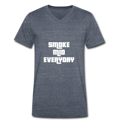 CSGO - Smoke Mid Everyday - Men's Organic V-Neck T-Shirt by Stanley & Stella