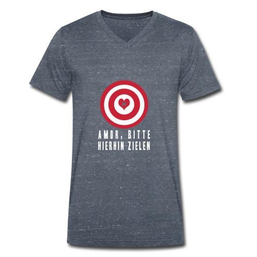 AMORS PFEIL 1 - Männer Bio-T-Shirt mit V-Ausschnitt von Stanley & Stella