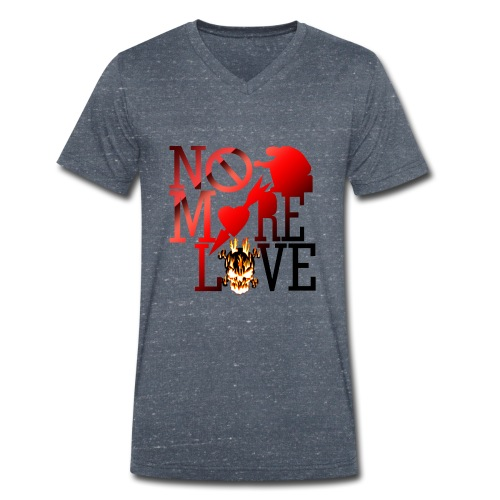 get no love - Men's Organic V-Neck T-Shirt by Stanley & Stella