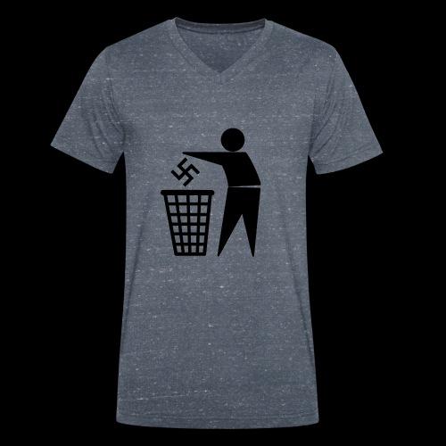 Nazis in die Tonne - Männer Bio-T-Shirt mit V-Ausschnitt von Stanley & Stella