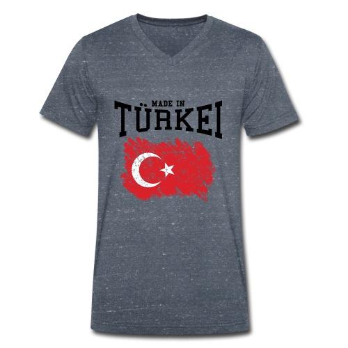 Made in Türkei - Männer Bio-T-Shirt mit V-Ausschnitt von Stanley & Stella