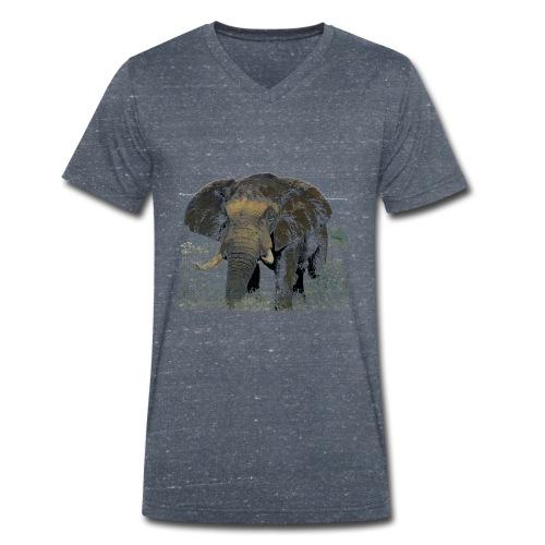 Elephant - Männer Bio-T-Shirt mit V-Ausschnitt von Stanley & Stella