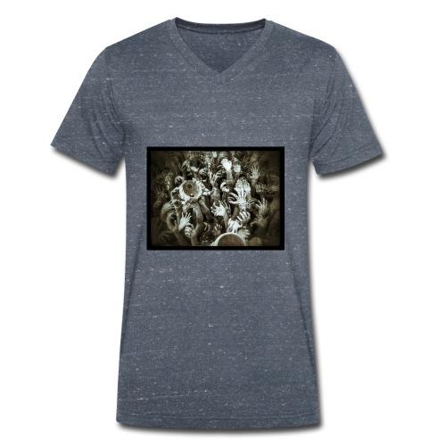 Hell Hands - T-shirt ecologica da uomo con scollo a V di Stanley & Stella