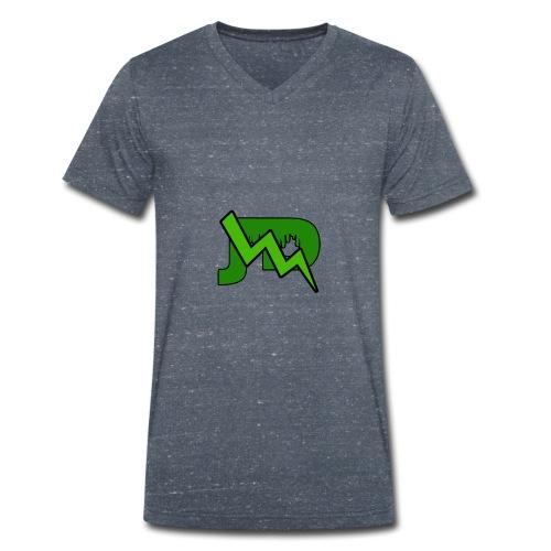 JD LOGO - Mannen bio T-shirt met V-hals van Stanley & Stella