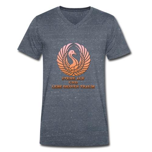 Stehe auf und Lebe deinen Traum - Männer Bio-T-Shirt mit V-Ausschnitt von Stanley & Stella