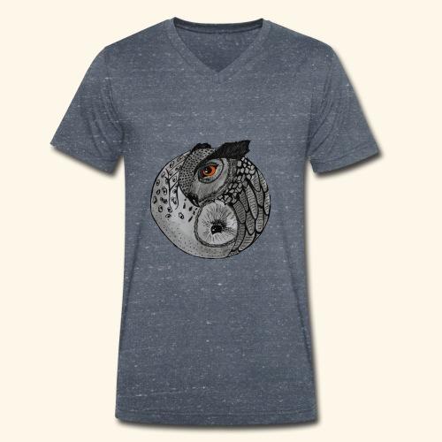 Chouette ying-yang - T-shirt bio col V Stanley & Stella Homme