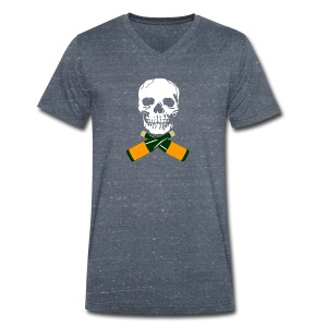 Skull and Bucky Bottles - Men's Organic V-Neck T-Shirt by Stanley & Stella