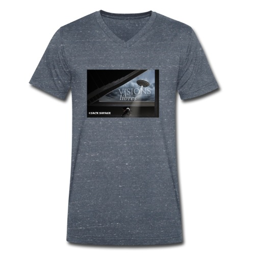 UFO by Jack Savage / Visions Libres Magazine - Männer Bio-T-Shirt mit V-Ausschnitt von Stanley & Stella