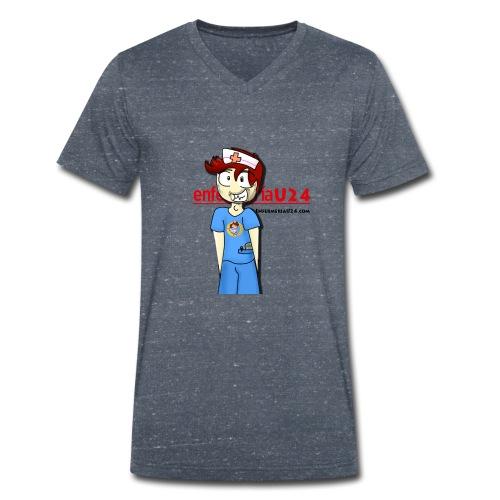 Enfermero Estresado U24 - Camiseta ecológica hombre con cuello de pico de Stanley & Stella