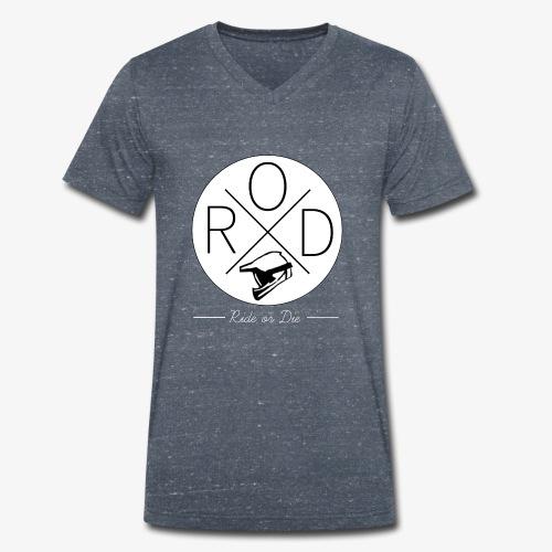 RideorDie Weiß - Männer Bio-T-Shirt mit V-Ausschnitt von Stanley & Stella