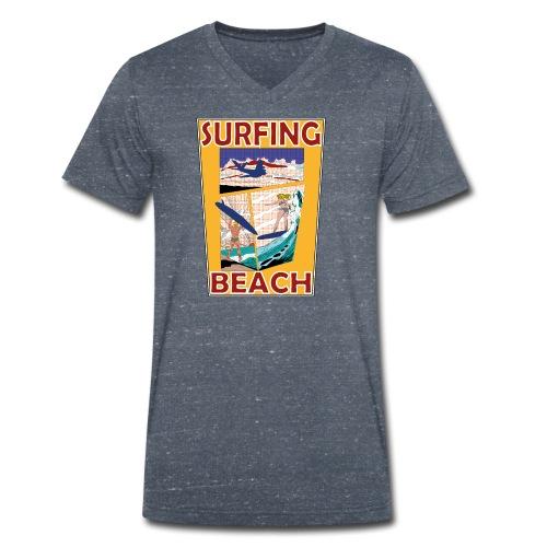 Surfing beach comic Urlaub t-shirt - Männer Bio-T-Shirt mit V-Ausschnitt von Stanley & Stella