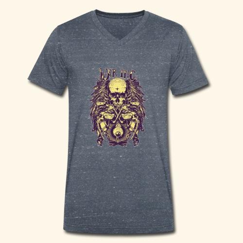 Totenkopf - war inc - Männer Bio-T-Shirt mit V-Ausschnitt von Stanley & Stella
