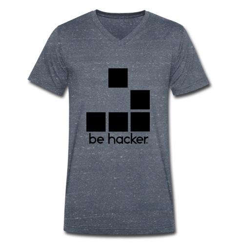 be_hacker-png - T-shirt ecologica da uomo con scollo a V di Stanley & Stella