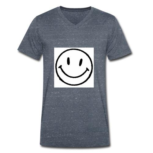 muy feliz - Camiseta ecológica hombre con cuello de pico de Stanley & Stella