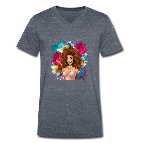 VENUS mochila - Camiseta ecológica hombre con cuello de pico de Stanley & Stella