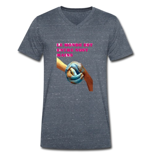 Pueblo unido - Camiseta ecológica hombre con cuello de pico de Stanley & Stella