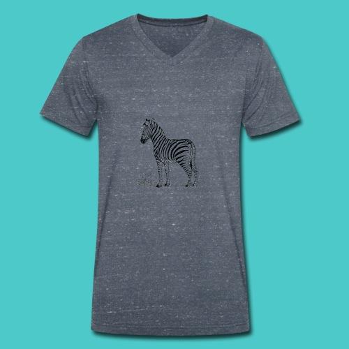 Cebra - Camiseta ecológica hombre con cuello de pico de Stanley & Stella