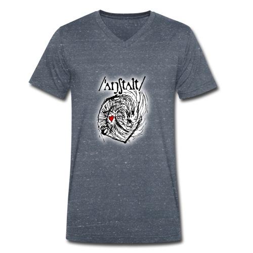 wesen mit herz und logo - Männer Bio-T-Shirt mit V-Ausschnitt von Stanley & Stella