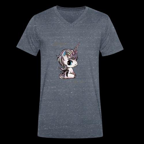 lucille Einhorn - the walking unicorn - Männer Bio-T-Shirt mit V-Ausschnitt von Stanley & Stella