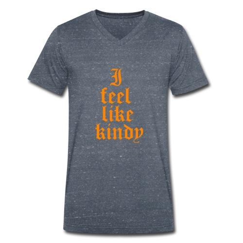 i feel like naranja - Camiseta ecológica hombre con cuello de pico de Stanley & Stella
