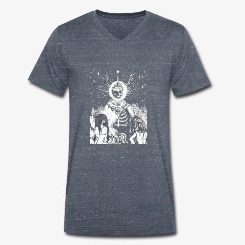 The King - Men's Organic V-Neck T-Shirt by Stanley & Stella