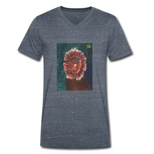 Lion T-Shirt By Isla - Men's Organic V-Neck T-Shirt by Stanley & Stella