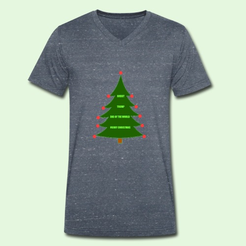 Christmas Brexit Trump - Men's Organic V-Neck T-Shirt by Stanley & Stella
