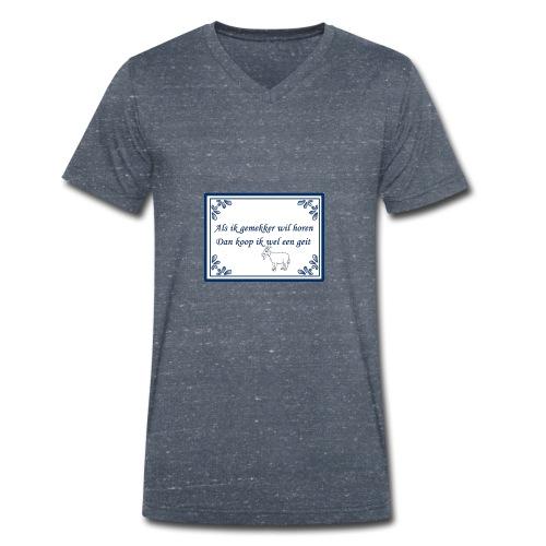 Tegeltje-Geit - Mannen bio T-shirt met V-hals van Stanley & Stella