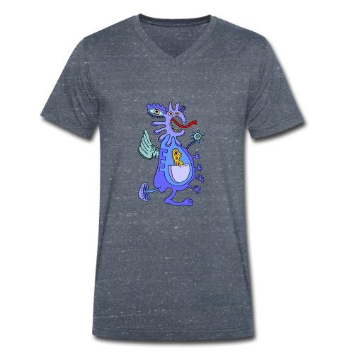 Blue Dragon - T-shirt ecologica da uomo con scollo a V di Stanley & Stella