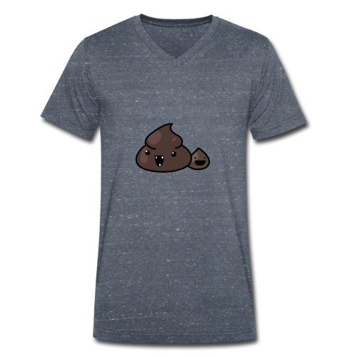 isaac poop - T-shirt ecologica da uomo con scollo a V di Stanley & Stella