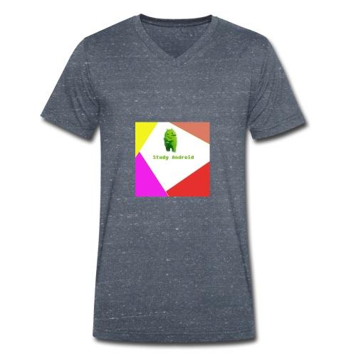 Study Android - Camiseta ecológica hombre con cuello de pico de Stanley & Stella