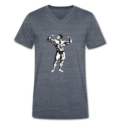 Oldschool Bodybuilding GOLIATHWEAR - Männer Bio-T-Shirt mit V-Ausschnitt von Stanley & Stella