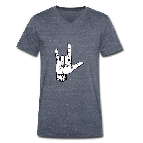 Hand  I love you  - Männer Bio-T-Shirt mit V-Ausschnitt von Stanley & Stella