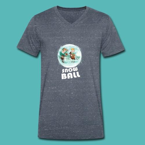 snow ball - Camiseta ecológica hombre con cuello de pico de Stanley & Stella