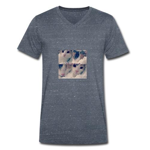 Katze - Männer Bio-T-Shirt mit V-Ausschnitt von Stanley & Stella