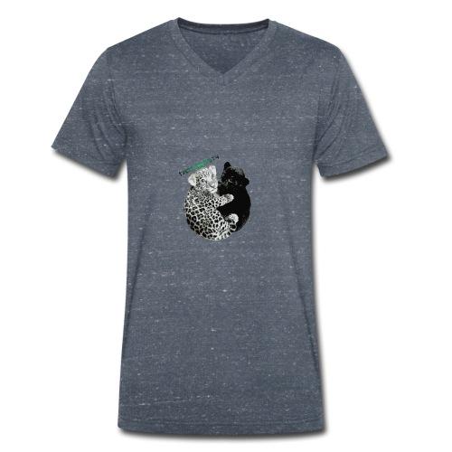 panther jaguar Limited edition - Økologisk Stanley & Stella T-shirt med V-udskæring til herrer