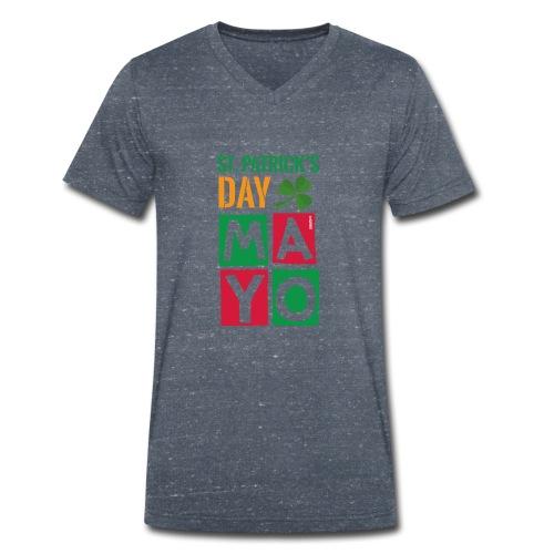 Celebrate St. Patrick's Day in Mayo - Men's Organic V-Neck T-Shirt by Stanley & Stella