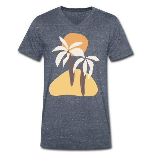 Minimal tropics - T-shirt ecologica da uomo con scollo a V di Stanley & Stella