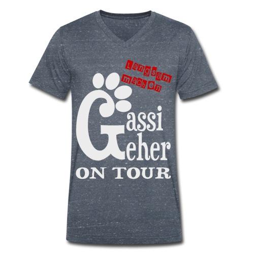 Gassigeher auf Tour - Langsam machen - Männer Bio-T-Shirt mit V-Ausschnitt von Stanley & Stella